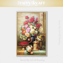 Professional Artist Hand-painted Impressionist Flowers Oil Painting on Canvas Classical for Wall Decoration