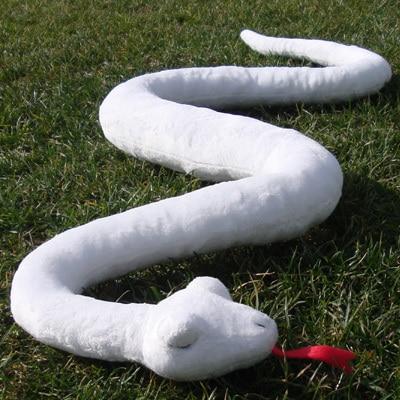 Simulation animal grand 120 cm blanc serpent doux en peluche cadeau d'anniversaire b0002