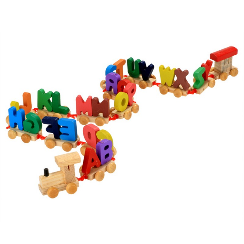 aliexpresscom buy kids children letters print interesting wooden toy train letters children birthday gift learning baby rope train set toys olyp from