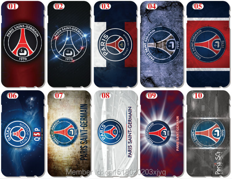 PSG Paris Saint Germain Plastic Hard Cell Phone Cover For iphone 4 4S 5 5S SE 5C 6 6S 7 Plus For iPod Touch 4 5 6 Mobile Case