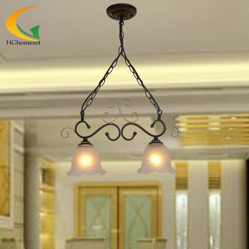 Led pendant lights dining room nordic vintage pendant lamp bedroom pendant lamps European-style iron lamp lighting e27