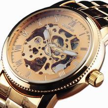 SEWOR Элитный бренд Для мужчин Автоматический Часы с костями Для мужчин Нержавеющая сталь ремешок Механические Формальные часы белого золота человек наручные часы