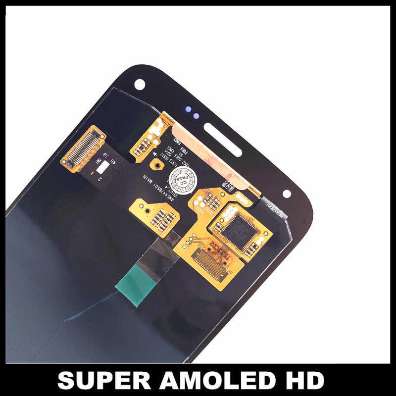 Для samsung Galaxy Super AMOLED S5 Mini G800 G800F G800H телефон ЖК-дисплей Сенсорная установка преобразователя экрана Замена наклейки
