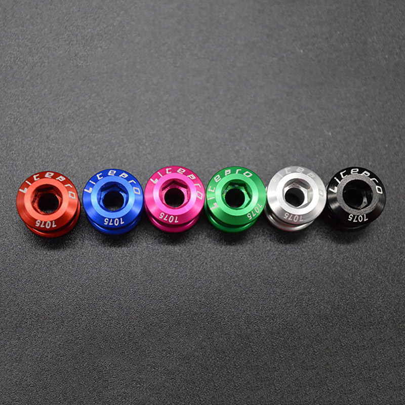 5PCS Bike Chainring Bolts Single//Double//Triple Speed Chain ring Screws`P/_US