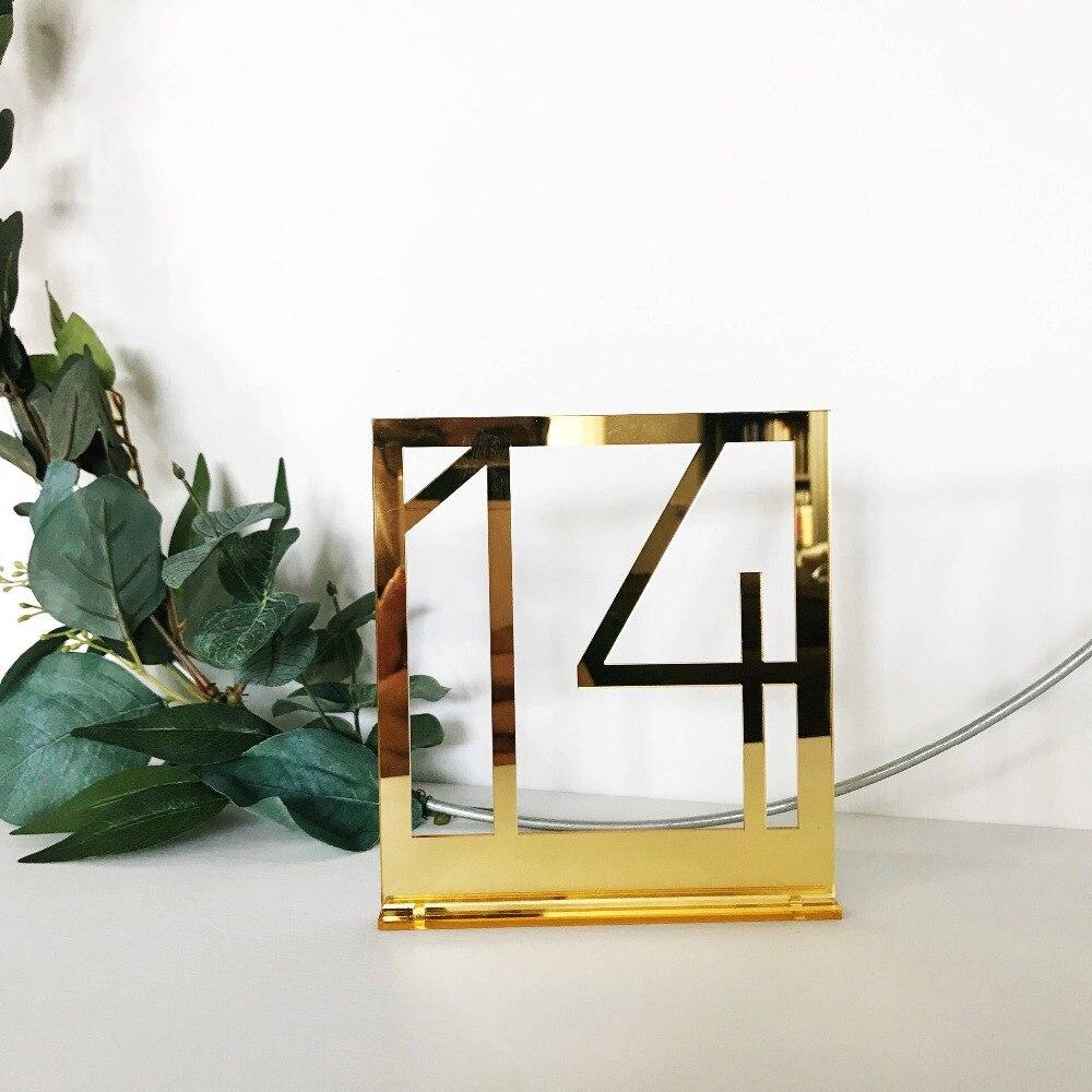 Krachtig Rechthoek Tafel Nummer Borden Voor Bruiloft Party Decor, Zilver Of Goud Acryl Nummer, Romeinse Cijfers Geometrische Boho Middelpunt
