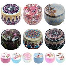 Lovely Iron Tin Storage Box for Scented Candle Jewelry Cookie Candy Tea Storage
