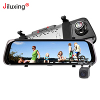 Jiluxing D05S 1080P Car DVR 10 inch touch screen Car cameras rearview mirror two lens Night Vision video recorder dash cam Auto