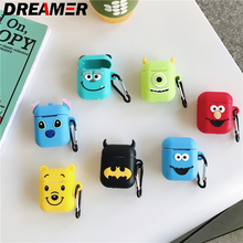 Cartoon Soft Silicone earpods Case For coque AirPods Shockproof Protective Cover Accessories for cute Apple Airpods case luxury
