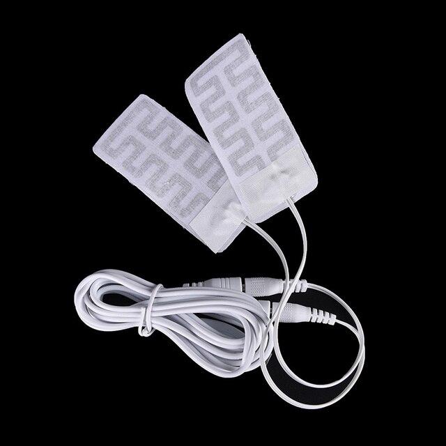 1 пара 5*9 см 5 В USB с подогревом носки из углеродного волокна грелка для обуви зимние теплые руки талии с подогревом перчатки
