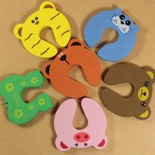 Baby Kids Safety Protect Hit Guard Lock Clip EVA Animal patterns Cute Door clamp Safe Card Door Stopper