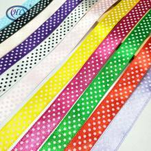 "HL 5/8"" 11 colors 10 meters/package Printed Dots Stain Ribbon Wedding Decorations DIY Crafts Gift Box Wrapping Belt R004(China)"