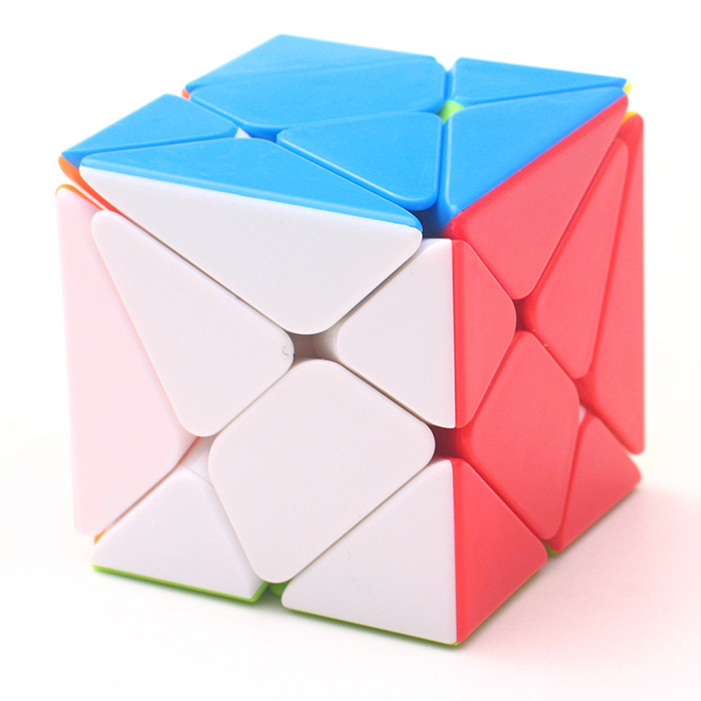 BabeLeMi Stickerless Fluctuation Jingang Skew Magic Cube Axis Speed Puzzle Cubes Educational Toys For Kids Children
