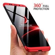 3-in-1 Plastic Hard 360 Full Protect Case for Xiaomi Redmi 5 Plus / Cover Anti-Shock Tough PC