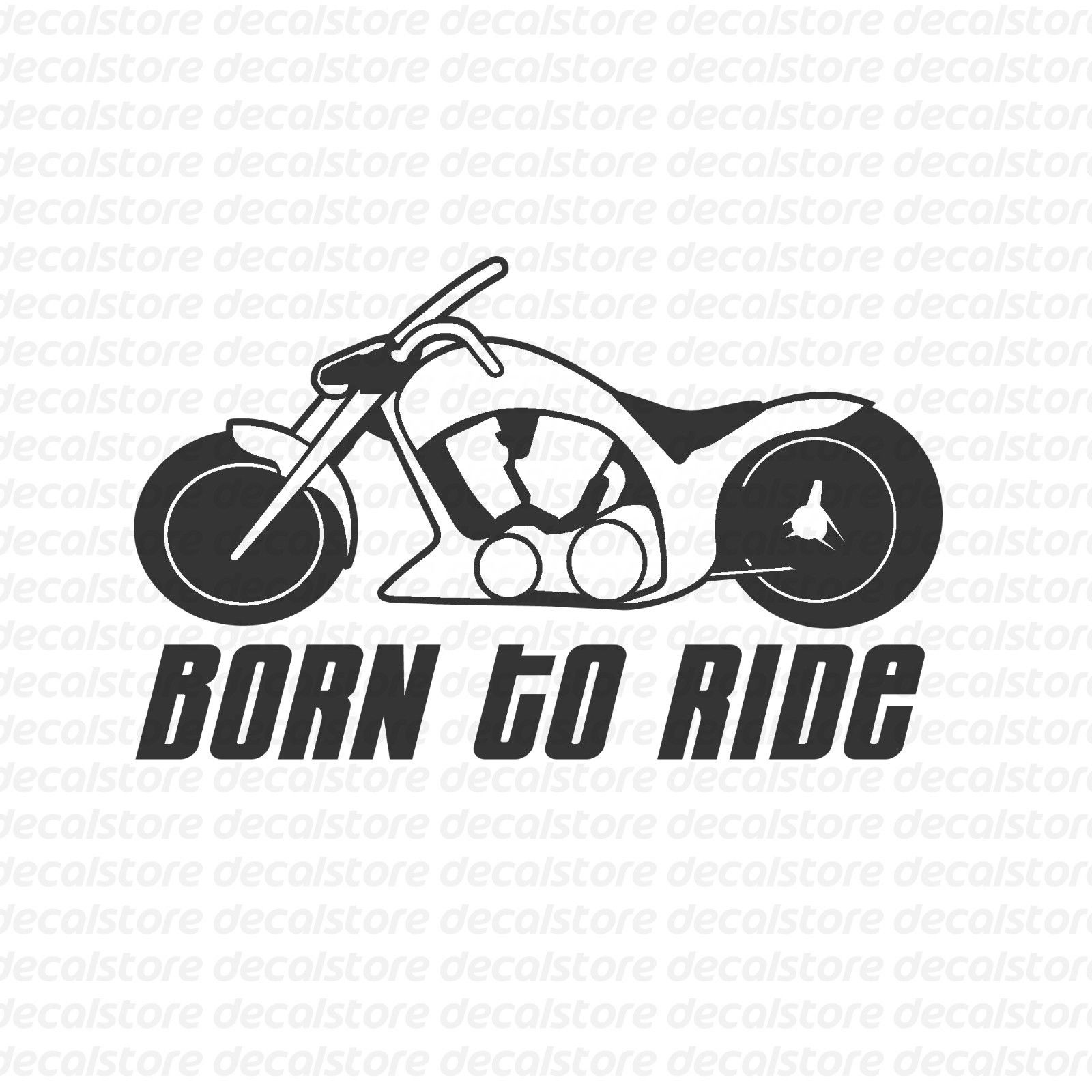 For 2pcs for born to ride motorcycle vinyl decal sticker chopper bike gang sticker m 1