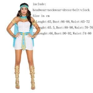 Image 5 - Ladies White Greek Goddess Costume Women Sexy Arabic Prince Fancy Dress Female Egyptian Costume for Halloween Party Dress
