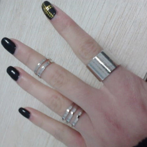 Tip Top Jewellery: Brilliant Quality 3Pcs 1Set Top Of Finger Over The Midi Tip Finger Above The Knuckle Open Ring