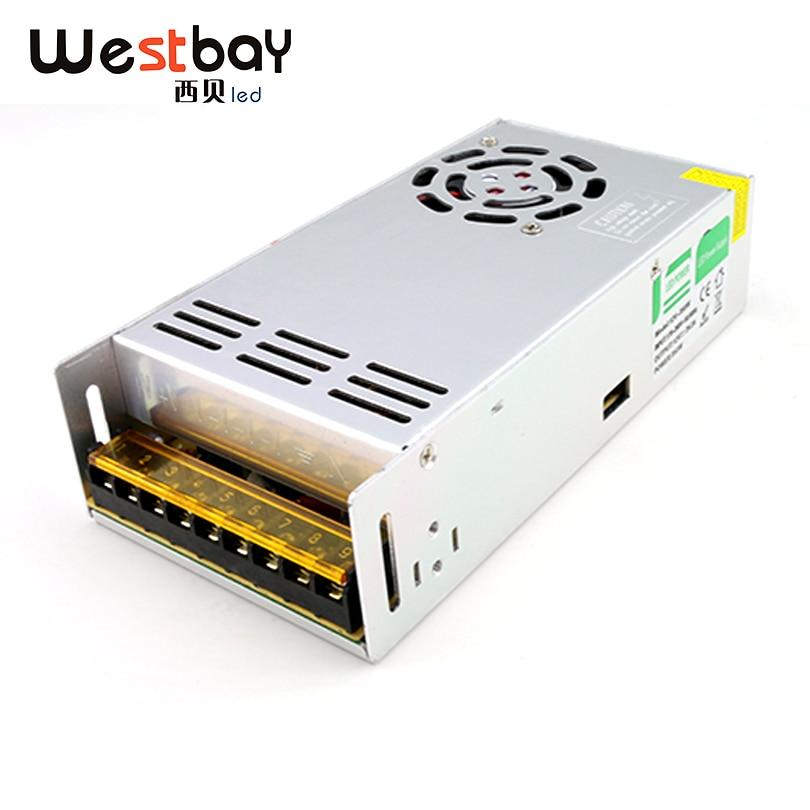 Nejlepší kvalita 12V 29.2A 350W Spínaný napájecí zdroj pro LED Strip AC 170-260V nebo 90-110V Vstup na DC 12V Doprava zdarma