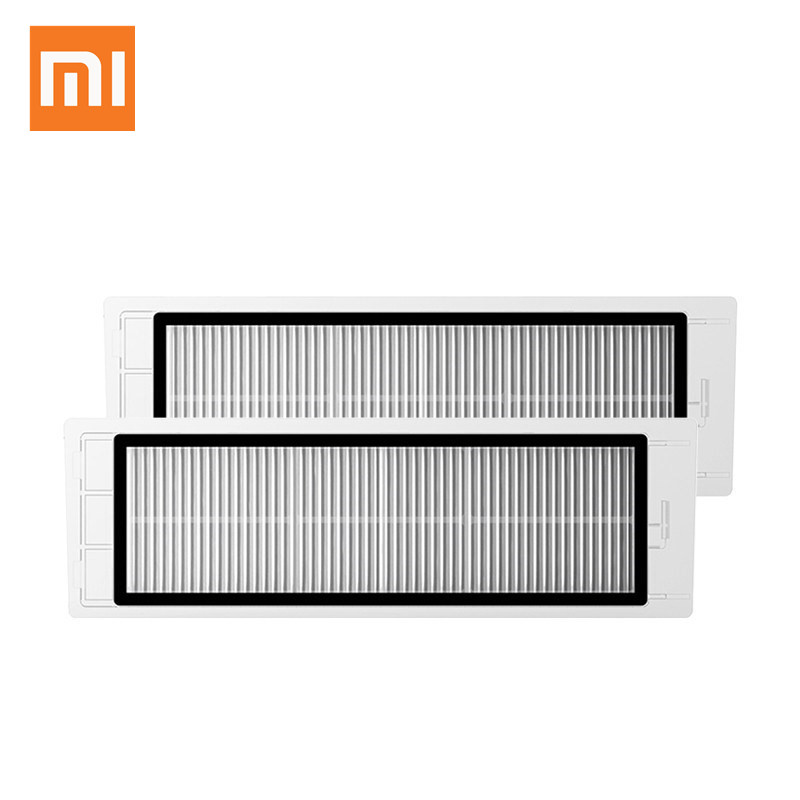 Original Xiaomi Robotic Vacuum Cleaner Pack HEPA Filter 2pcs/lot xiaomi mi Robot Filters xiaomi 2pcs set robot vacuum filter xiaomi robotic vacuum cleaner parts hepa filter original filters replacements