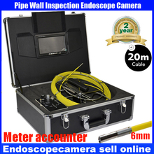 Amazing 6mm  IP68 Waterproof  CCTV Camera Mini 6mm Drain Pipe Inspection System Cameras with monitor with meter accounter