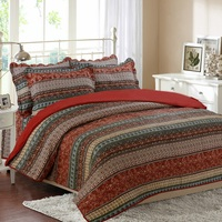 CHAUSUB Vintage Print Quilt Set 3pcs/4pcs Cotton Coverlet Set Bedspread Bed Sheets Duvet Cover Quilted Bedding Set King Size