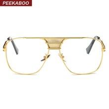Пикабу новый черный очки кадров для мужчин женская обувь высокого качества большой золотой оправе очки мужские рамки Марка Дизайнер из металла