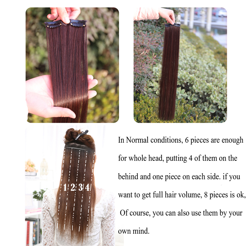 How to put in 8 piece clip in hair extensions image collections shangke long straight 2 clips in hair extensions natural fake hair shangke long straight 2 clips pmusecretfo Images