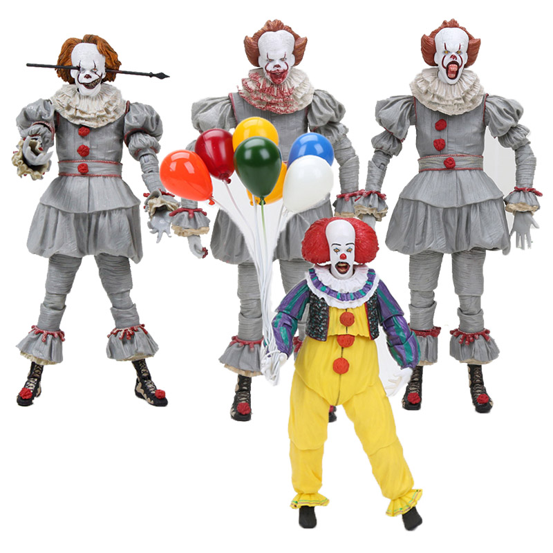 18cm NECA Stephen Kings It Pennywise Joker Clown PVC Action Figure Toys Pennywise Dolls Halloween Day Gift18cm NECA Stephen Kings It Pennywise Joker Clown PVC Action Figure Toys Pennywise Dolls Halloween Day Gift