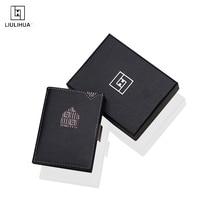 LLH Fatti A Mano di Affari del Cuoio Titolare Della Carta Mini mens sottile portafoglio in pelle Portafoglio RFID Uomini e Donne Minimalista Portafogli