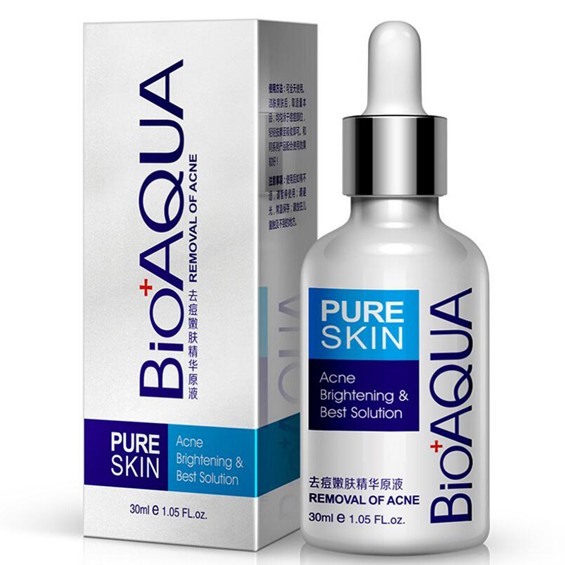 Бренд BIOAQUA 30 мл, лечение акне, subстанция от угревой сыпи, удаление рубцов, жидких пятен от акне, уход за кожей лица, отбеливающий увлажняющий уход за лицом|Сыворотка|   | АлиЭкспресс
