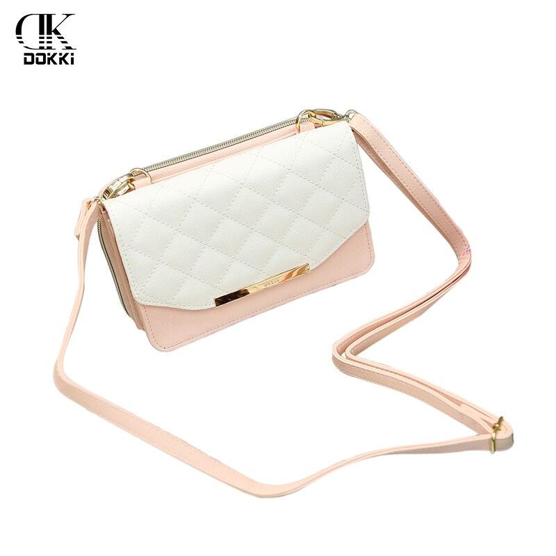 DOKKI Women Messenger Bags PU Leather Handbags Fashion Ladies Single Shoulder Bag Clutch Female Pouch Shell Style High Quality