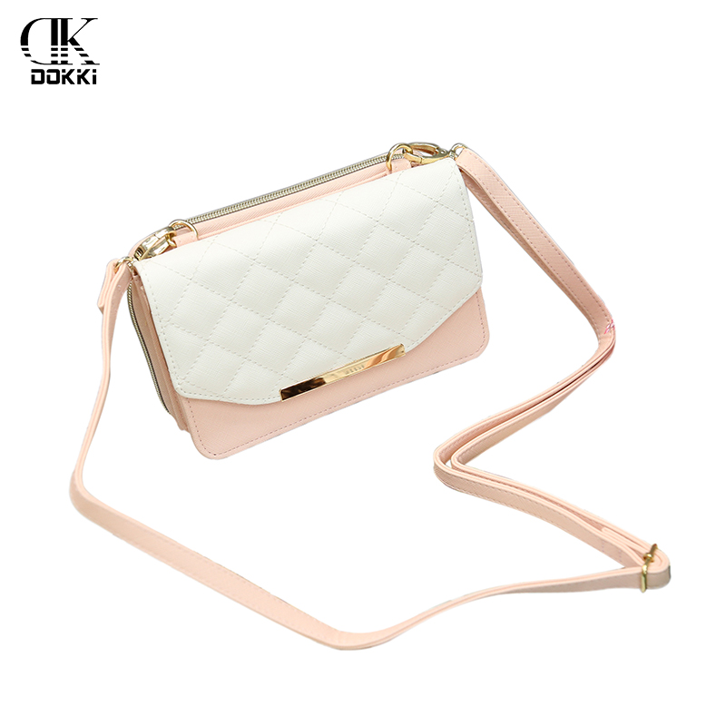 DOKKI Women Messenger Bags PU Leather Handbags Fashion Ladies Single Shoulder Bag Clutch Female Pouch Shell Style High Quality
