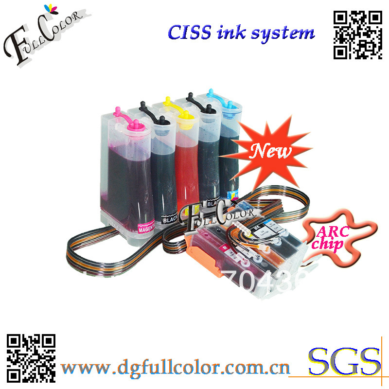 Free shipping Compatible CLI651 CISS full of inks for canon PIXMA MG5460 PIXMA IP7260 printer ciss with ARC chip 5color set free shipping compatible cli651 ciss full of inks for canon pixma mg5460 pixma ip7260 printer ciss with arc chip 5color set