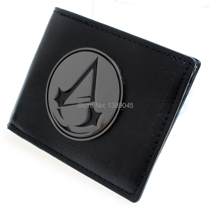Game Assassins Creed Wallet Purse Cosplay Costume Accessory Props Toy DFT-1323 assassins creed logo black bi fold wallet dft 1522