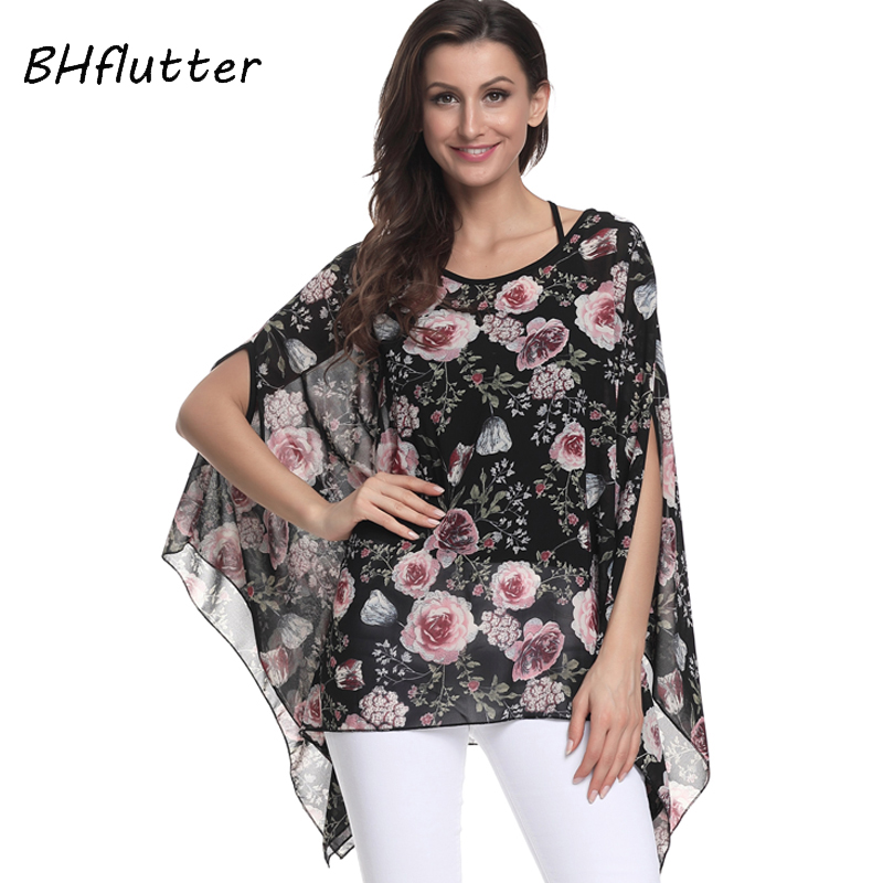 Women's Clothing New Fashion Yinlinhe 2018 Elegant Women Chiffon Cover Up Shirts Summer Beach Wear Long Bohemian Batwing Sleeve Smock Kimono Plus Size 051 Products Hot Sale