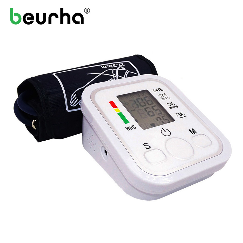 NEW!!Arm Blood Pressure Pulse Monitor Health care Monitors Digital Upper Portable Blood Pressure Monitor meters sphygmomanometer home use blood pressure monitor health care heart monitor arm blood pressure monitor sphygmomanometer nonvoice