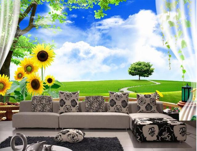 Buy 3d wallpaper custom mural non woven for 4 seasons mural