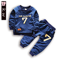 Brand KW Baby Boys and Girls Sweatshirts Clothing Sets with Letter Fashion Kids Clothes Outfits Sports Suit for Boys