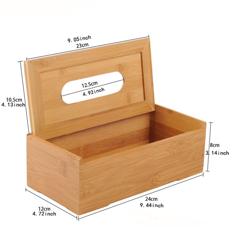 Us 10 35 5 Off Rustic Bamboo Tissue Box Cover Wood Drawer Quality Flip Type Home Decoration Vintage Creative Napkin Holder For Paper Towels In