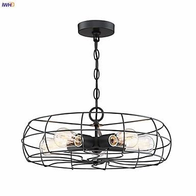 IWHD Fan 5 Heads Loft Pendant Lamp Dinning Room Bar Edison Industrial Vintage Light Hanging Lights Lampara Colgante Luminaire