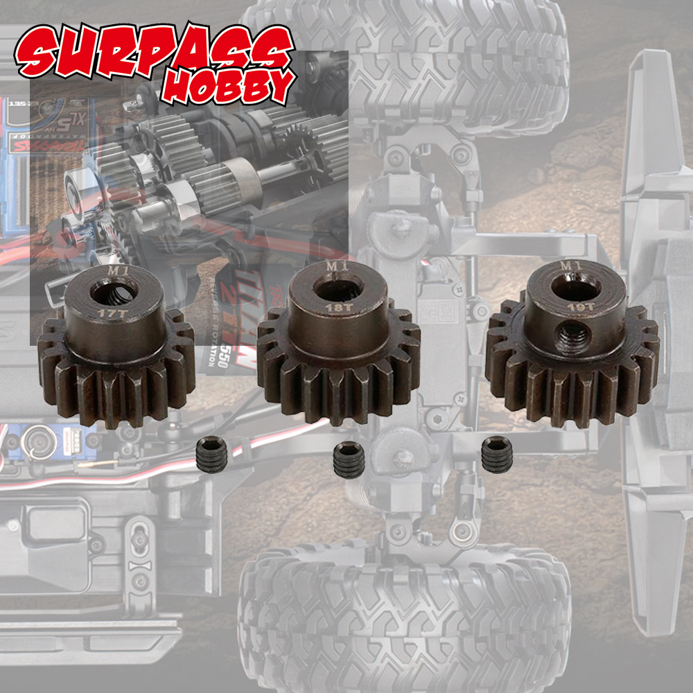 Image 5 - SURPASSHOBBY 3Pcs M1 5mm 11T 13T/14T 16T/17T 19T/20T 22T Pinion Motor Gear for 1/8 RC Buggy Car Monster Truck-in Parts & Accessories from Toys & Hobbies