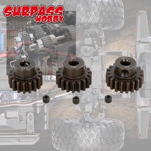 Image 5 - SURPASSHOBBY 3Pcs M1 5mm 11T 13T/14T 16T/17T 19T/20T 22T Pinion Motor Gear for 1/8 RC Buggy Car Monster Truck