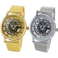 Top Sale LuxuryWomens Geneva Hollow Analog Quartz Stainless Steel Wrist Watch Watches Relogio Feminino 200717 Wholesale