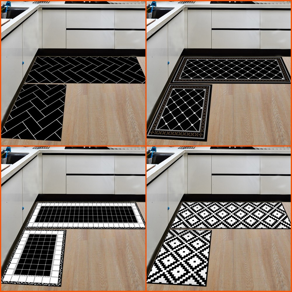 Modern Kitchen Mat Doormat Non-Slip Kitchen Carpet / Bath Mat Home Entrance Floor Mat Hallway Area Rugs Kitchen Mat