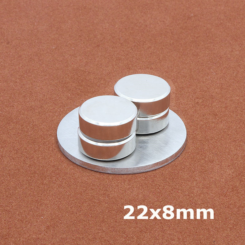 1Pcs 22 x 8 mm neodymium magnet N35 Small Disc Round Super Strong magnets 22*8 mm Powerful Rare Earth Neodymium Magnets 22x8 mm