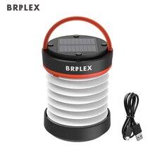 BRILEX Солнечный Фонари портативная Светодиодная лампа USB Перезаряжаемые складной и надувные Водонепроницаемый IPX5 Открытый Отдых на природе света