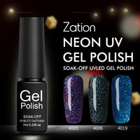 Zation Lucky 19 Color Neon Nail Gel Polish Long Lasting Hybrid Gel Varnish Soak Off Semi-Permanent UV LED Nail Gel Polish