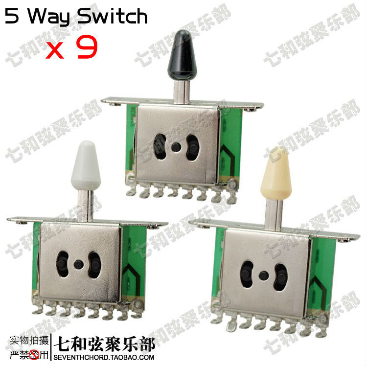 Aliexpress.com : Buy 9 Pcs 5 Way Selector Switches Pickup Toggle ...
