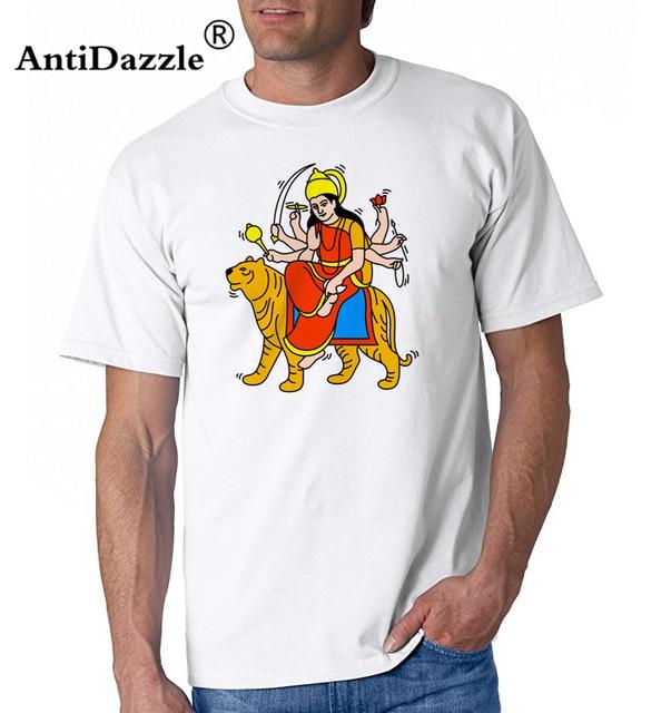 Maa Durga Haring Tribute T-shirt men Indian Mythological Warrior Goddess T  shirt homme Hindu shiva the god T shirts hombre e0ae3aa84