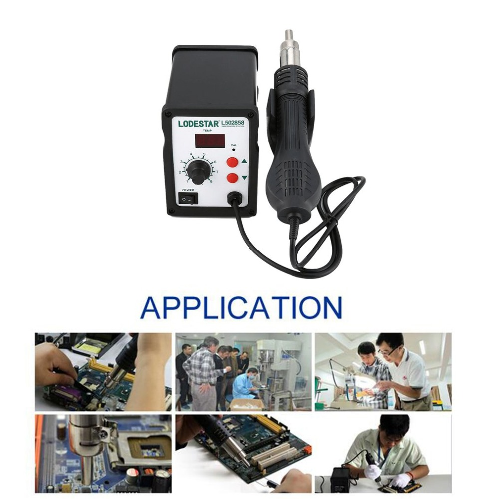 LODESTAR 110/220V Hot Air Gun Desoldering Soldering Rework SMD Station Kit Heat Gun Desoldering Tool + 3 Nozzles 1set 220v 858d digital smd soldering desoldering station kit hot air rework gun tool 3 nozzles heat gun soldering tools newest