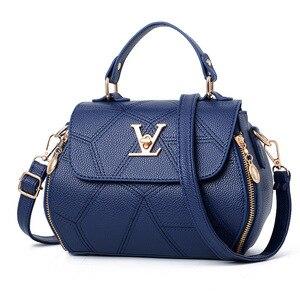 Image 2 - 2019 neue Frau Mode V Buchstaben Designer Handtaschen Luxus Qualität Dame Schulter Umhängetaschen Heiße Messenger Tasche